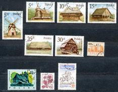 Polen   - Mi.Nr.    3060-3065 +2198+2305+3235+3051  Gestempelt - 1944-.... Republik