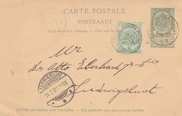 Belgien-Ganzsache Mit Zusatzfrankatur - Entiers Postaux