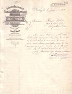 MEURTHE ET MOSELLE - NANCY - BOIS - TONNELLERIE MECANIQUE - ADOLPHE FRUHINSHOLZ - LETTRE - 1902 - 1900 – 1949