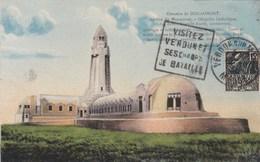 Carte Ossuaire De Douaumont De 1931. TAD De Verdun; Timbre De L'expo Coloniale - Douaumont