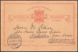 1580/ Mozambique (mocambique) Entier Stationery Carte Postale (postcard) N° 2 20 Reis  1885 Miehlen Germany - Mozambique