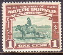NORTH BORNEO 1939 SG #303 1c MH - Bornéo Du Nord (...-1963)