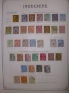 Indochine Superbe Collection Neufs Et Oblitérés 1889/1949. Sur Feuilles Yvert. Bonnes Valeurs.  B/TB. A Saisir!