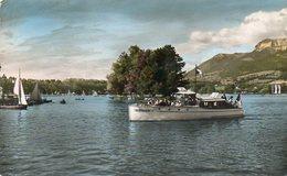 CPSM Dentelée - ANNECY (74) - Aspect De L'île Des Cygnes En 1955 - Annecy