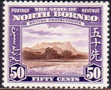 NORTH BORNEO 1939 SG #314 50c MH CV £48 - North Borneo (...-1963)