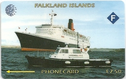 Falklands - Queen Elizabeth 2 Specimen-Proof (No Notch!! No Serial) - Falkland Islands