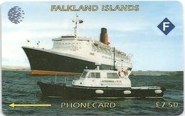 Falklands - Queen Elizabeth 2 Specimen-Proof (No Notch!! No Serial)
