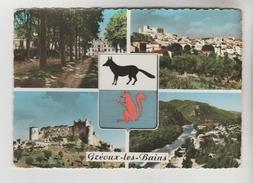 CPSM GREOUX LES BAINS (Alpes De Haute Provence) - 4 Vues - Gréoux-les-Bains