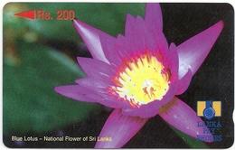 Sri Lanka - Blue Lotus Flower Specimen/Proof (No Serial)