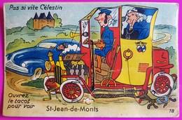Carte à Système Saint Jean De Monts 10 Vues Tacot Carte Postale 85 Vendée Proche Challans Noirmoutier St Gilles - Saint Jean De Monts