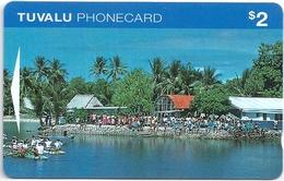 Tuvalu - Village Scene, Funafuti 2$ Specimen-Proof (No Serial) - Tuvalu