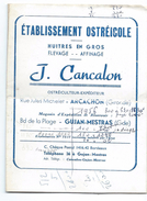Ostréiculture/Prix De Gros/Cancalon/Arcachon/Huitres/ Henriette Et Lucien CONDOU/Gujan-Mestras/ 1954-56   VPN79 - Etiquettes
