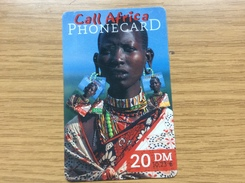 Call Africa    - 20 DM - African Woman  - Little Printed  -   Unused Condition