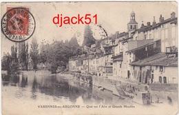 55 - Varennes-en-Argonne - Quai Sur L'Aire Et Grands Moulins - 1912 - France