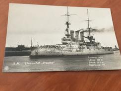 S. M. Linienschiff Preussen Holstein Kaiserliche Deutsche Marine 1.WK Postkarte Original - Other