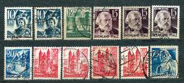 Germany, French Zone 1947, Rheinland-Pfalz, From Set MiNr 1-15; Used - Lot Of 12 Stamps - Zone Française