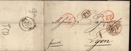 Suisse Bale Entrée Basel Nach Mittag Suisse 1 Avis De Décès 1852 - ...-1845 Vorphilatelie