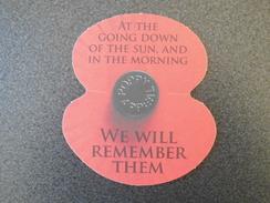 Bierviltje / Beer Mat - Beer Coaster : Klaproos WO1 / Poppy World War I - We Will Remember Them - Publicité