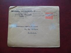 Lettre Entête Weigel, Leygonie & Cie Paris 17/10/1927 Le N° 199 Sans Le Centre Obitéré TB & Flamme Poste Aérienne...B/TB - Variedades Y Curiosidades