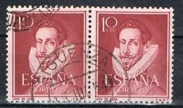 Par Sellos 10 Cts Lope De Vega, Fechador SIGUENZA (Guadalajara) Num 1072 º - 1931-50 Usati