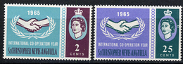 1965 - ST. CHRISTOPHER, NEVIS & ANGUILLA  - Mi. Nr. 158/159 - NH - (CW2427.38) - St.Kitts E Nevis ( 1983-...)