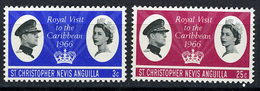 1966 - ST. CHRISTOPHER, NEVIS & ANGUILLA  - Mi. Nr. 164/165 - NH - (CW2427.38) - St.Kitts E Nevis ( 1983-...)