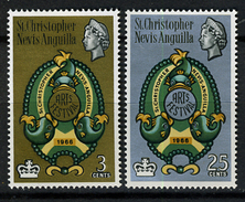 1966 - ST. CHRISTOPHER, NEVIS & ANGUILLA  - Mi. Nr. 168/169 - NH - (CW2427.38) - St.Kitts E Nevis ( 1983-...)