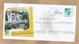 Enveloppe Entière Saint-Amans-Soult (81) Ferme De Rieussequel 2 Scans 18/06/2014 Piscine Parc - Marcophilie (Lettres)