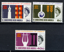 1966 - ST. CHRISTOPHER, NEVIS & ANGUILLA  - Mi. Nr. 172/174 - NH - (CW2427.38) - St.Kitts E Nevis ( 1983-...)
