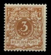 D-REICH KRONE ADLER Nr 45c Ungebraucht Gepr. X726FFA - Allemagne