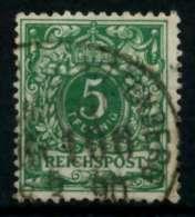 D-REICH KRONE ADLER Nr 46a Gestempelt Gepr. X726FE2 - Allemagne
