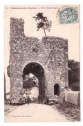 33 Sauveterre De Guyenne Porte Saint Leger Cpa Animée Cachet 1904 Edit Veuve Dupourteau - France