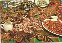 V929 Espana - Galicia - Mariscos - Ricetta Recette Recipe / Viaggiata 1967 - Ricette Di Cucina