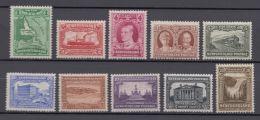 Newfoundland 1931 Short Set 1c-30c Sc172-182 10 Stamps CV$293 MNH - Canada