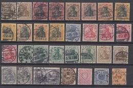 DR Lot Nr.1 Germania Gestempelt - Briefmarken