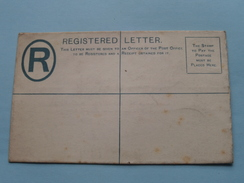 ZANZIBAR - REGISTERED LETTER Blanco / 20 Cents FEE ( Thos. DE LA RUE & C°. Patent ) Anno 19?? ( Zie Foto's ) ! - Tanzanie