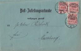 DR Postzustellurkunde Mef Minr.3x47b Markdorf 4.8.94 Geprüft - Briefe U. Dokumente