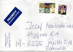 Auslands - Brief  Von Briefzentrum 88 Mit 150 Cent Mischfrankatur 2017 - BRD
