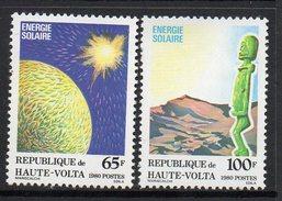 1980 Upper Volta Haute Volta Green Energy Solar  Complete Set Of  2 MNH - Opper-Volta (1958-1984)