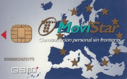 SPAIN - World Map MOVISTAR Full-Size GSM, Mint
