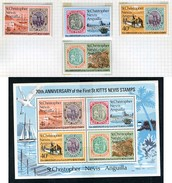 1973 - ST. CHRISTOPHER, NEVIS & ANGUILLA  - Mi. Nr. 262/265 + Block 1 - NH - (CW2427.40) - St.Kitts E Nevis ( 1983-...)