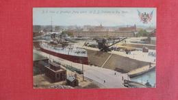 Brooklyn Navy Yard-- U.S.S. Indiana In Dry Dock     Ref 2558 - Krieg