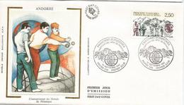 ANDORRA . Championnat Du Monde De Pétanque En Andorre.1991 (équipe Française,Dream Team De La Pétanque Mondiale) FDC