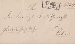 Preussen Brief R2 Thorn 4.11. Gel. Nach Culm - Preussen