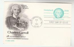 1981 Worcester USA Postal STATIONERY CARD Illus PRINTING PRESS NEWSPAPER Idaiah Thomas Stamps Cover FDC - Ganzsachen