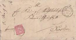 NDP Brief EF Minr.16 K2 Schmiegel 17.11.69 Gel. Nach Kosten - Norddeutscher Postbezirk