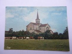 CPSM 39 - OUGNEY L'EGLISE ABBATIALE COTE OUEST - Autres Communes