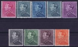 Belgium: OBP Nr 429 - 435 Poortman Roi Léopold III 1936 - Belgique