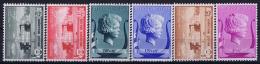 Belgium: OBP Nr 532 - 537 MNH/**/postfrisch/ Neuf Sans Charniere 1940 - Belgique