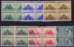 Belgium: OBP Nr 471 - 477 MNH/**/postfrisch/ Neuf Sans Charniere 1938 4 - Blocks CV 190 Euro Koekelberg - Belgium